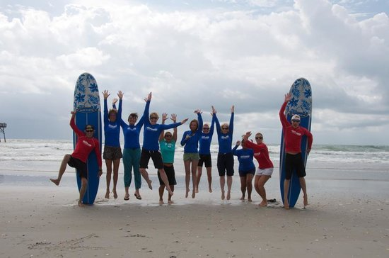 Wrightsville Beach, NC: Our fun and fabulous surf/yoga camp crew!