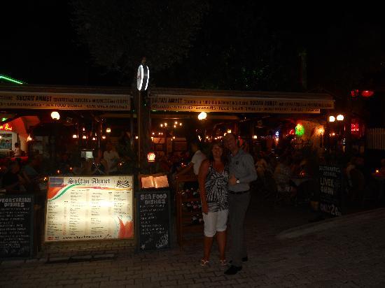 Sultan Ahmet Restaurant: outside the restaurant with Murat