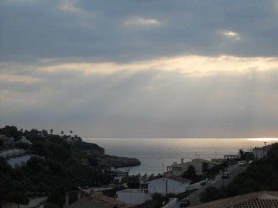 Insotel Cala Mandia Resort & Spa: view from room, early evening.