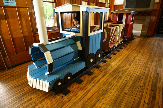 Smith Kids Play Place (Playground & Mansion): Climb-on train in Playhouse