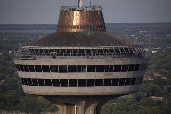 Skylon Tower: Zoomed right in from our bedroom!