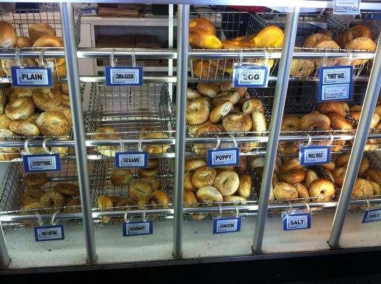 Lighthouse Bagels and Deli: bagel case