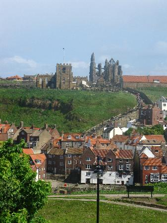 Whitby Abbey: View of the Abbey from town
