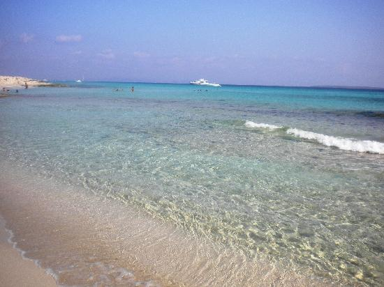 Strand Playa de ses Illetes: mare cristallino