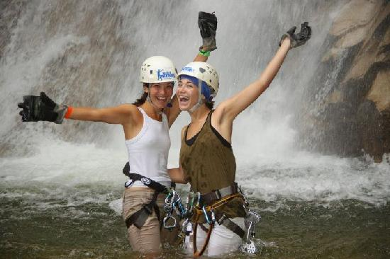 Vallarta Adventures: After rapelling a waterfall...