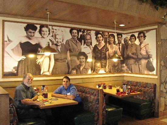 Brookfield's Restaurant: Manager Pat Wysocki and I watched over by the family