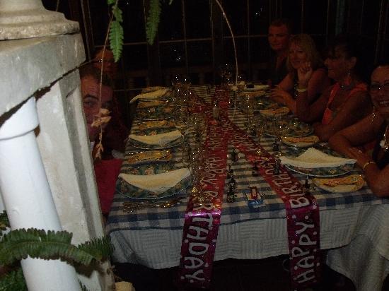 Brisas Guardalavaca Hotel: sisters 50th birthday meal in fish restaurant