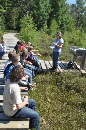 North Lakeland Discovery Center: Classes in the bog