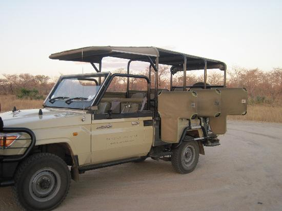 Rhino Post Safari Lodge: They have two of these trucks for safaris