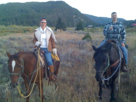 Jake's Horses: hubby and me on Cash and Zeus