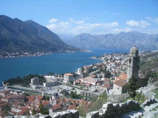 Kotor Bay Tours: view from top of Kotor castle