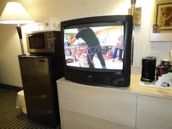 Best Western Seven Oaks Hotel: TV, fridge and microwave