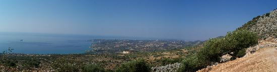 Saoulas Studios: Panorama from 400M up Mountain
