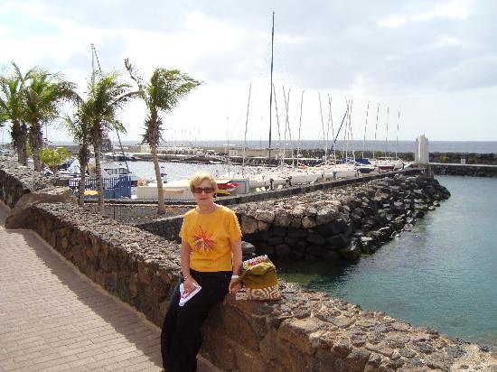Hesperia Lanzarote: The promenade leading to the marina at Puerto de Calera.