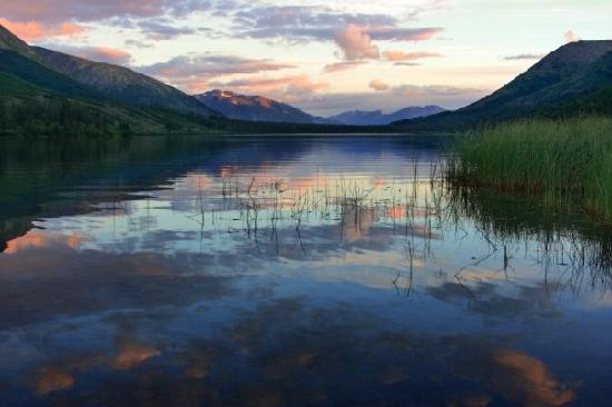 Moose Pass, AK: lake at dusk