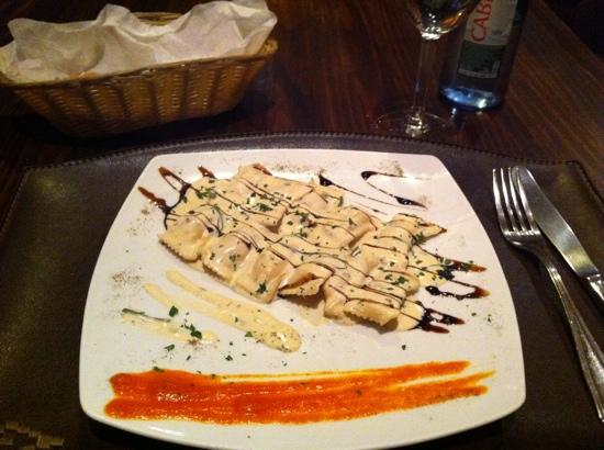 Da Cuchuffo Madrid: Ravioli's with salmon inside.