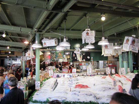 Pike Place Market: fish market