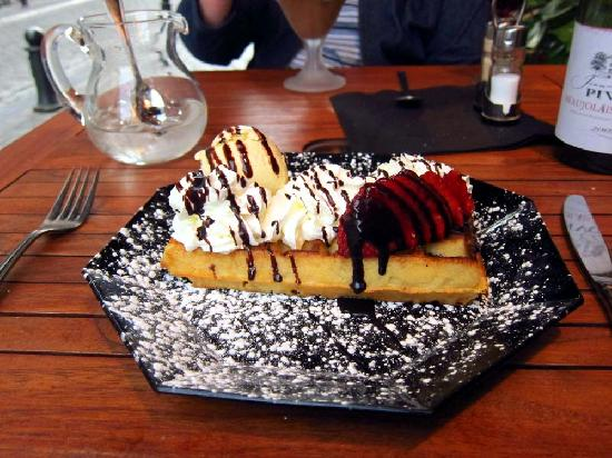 Raphael Restaurant: decadent Belgian waffle