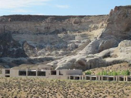 View of Amangiri from group hike.