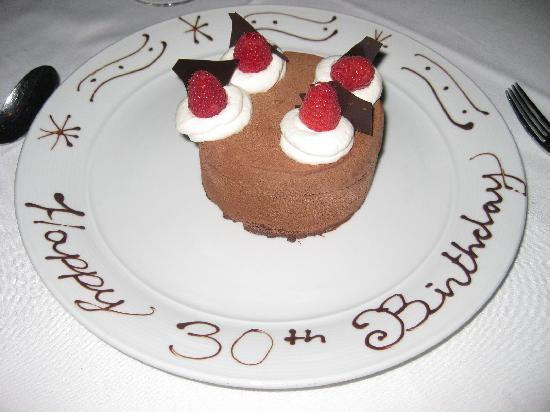 The best birthday cake Picture of Eiffel Tower Restaurant at
