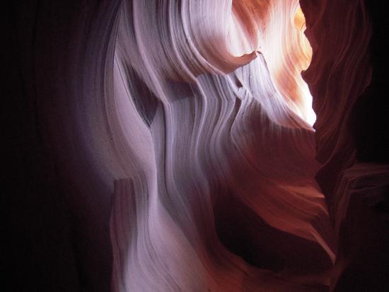 Antelope Slot Canyon Tours: A peek of sun.
