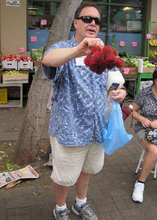 "Hawaii Food Tours: ""Big Red Hairy Balls"" AKA rambutan"