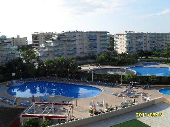 Gran Hotel La Hacienda: Vue de la piscine extérieure