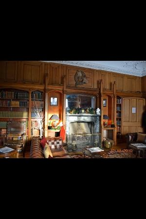 Dalhousie Castle: the 'library' I think