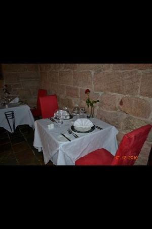 Dalhousie Castle: our table