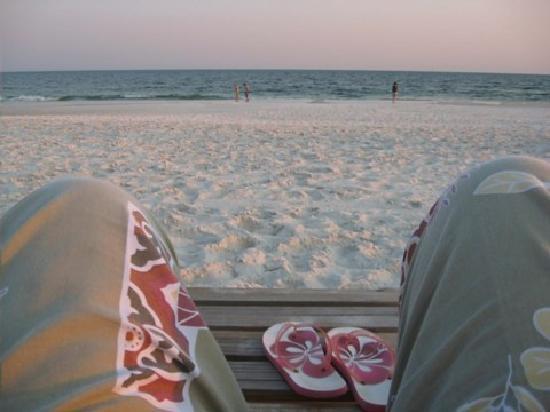 Pensacola Beach: Beach chair lounging