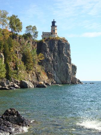 Split Rock Lighthouse: A vew from the shore below