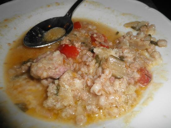 Borgo Palace Hotel: zuppa di farro