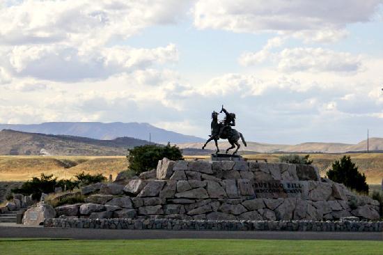 Cody Cowboy Village: Buffalo Bill statue, Cody, Wyoming