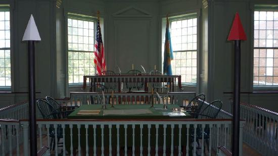 Old State House: Court - Silver = not guilty; red = guilty