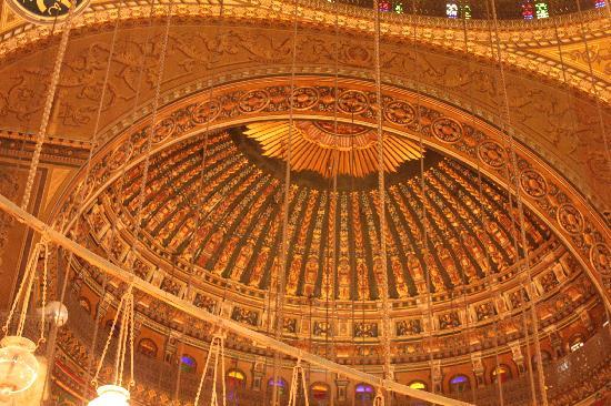 สุเหร่าโมฮัมเหม็ดอาลี: The details of the domed ceiling