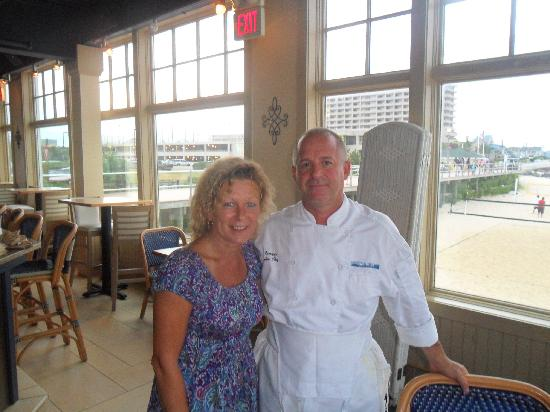 McLoone's Pier House: Bev (me) and Chef Joe