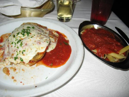 Battista's Hole in the Wall: Eggplant Parmesean and Side Pasta