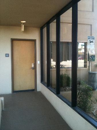 Hyatt Palm Springs Room 101 Door And Window To Dog Potty Area