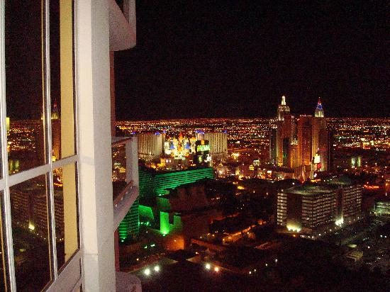 Signature at MGM Grand: Night lights from our balcony