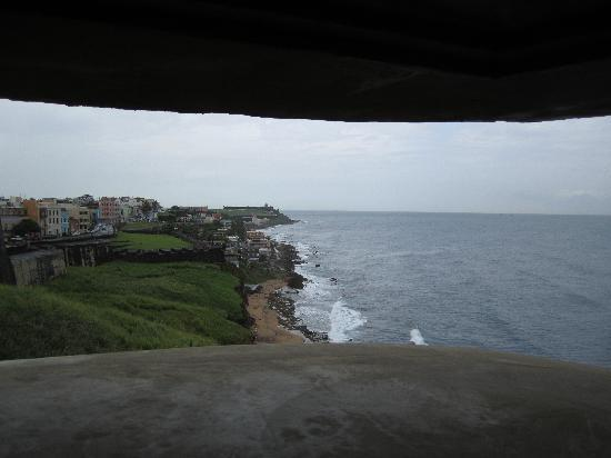 Castillo de San Cristobal: view from inside one of the guard towers