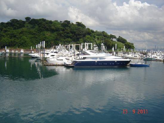 พิพิธภัณฑ์คลองเชื่อมมหาสมุทรปานามา: los yates en las islas