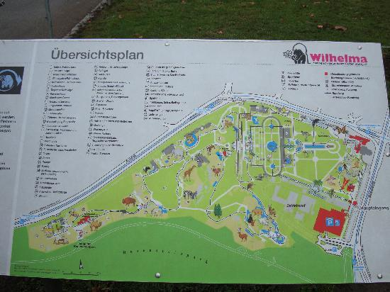 Wilhelma Zoo and Botanical Garden: map