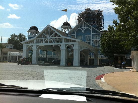 Disney's Beach Club Resort: As you pull up at the front doors.