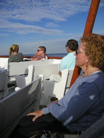 Finestkind Scenic Cruises: Comfortable bench seating