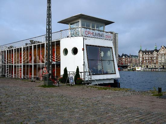 CPHLIVING Floating Hotel: Came back to hotel after a stroll in Christianhaven.  Breakfast starts @ 7:30 am.