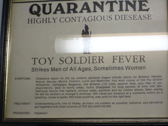 Soldier's National Museum: Um.. toy soldier fever quarantine