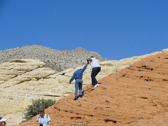 Grand Canyon by One Day Tours: Guide helping  me down  :)
