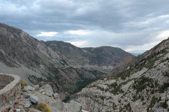 mountain side drive at Tioga Pass
