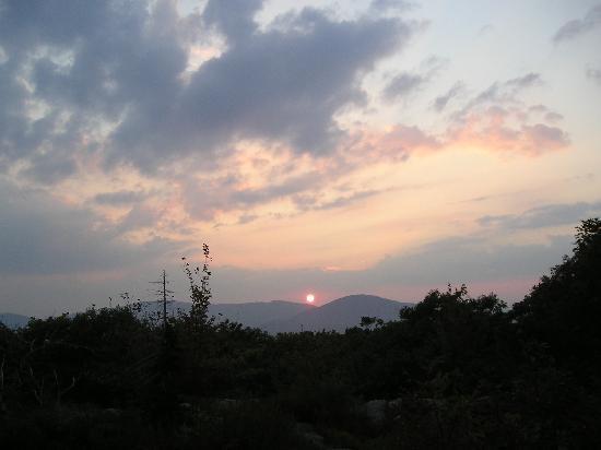 Mount Battie: Sunset from the top of Mt Battie