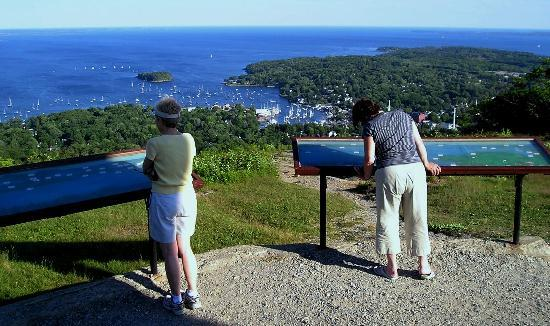 Mount Battie: Well marked information panels makes viewing easy.